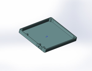 3D модель для фрезеровки корпуса АКБ
